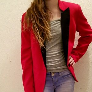NWT Worthington Cherry Cardinal Red Blazer